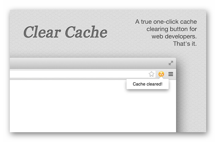 Картинка Расширение Clear Cache