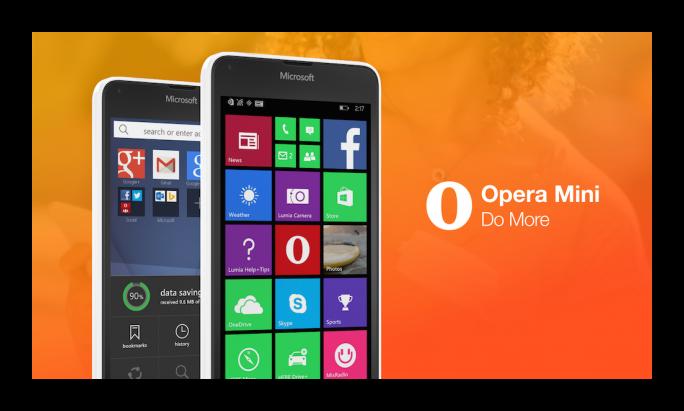 Картинка Opera Mini для Windows Phone