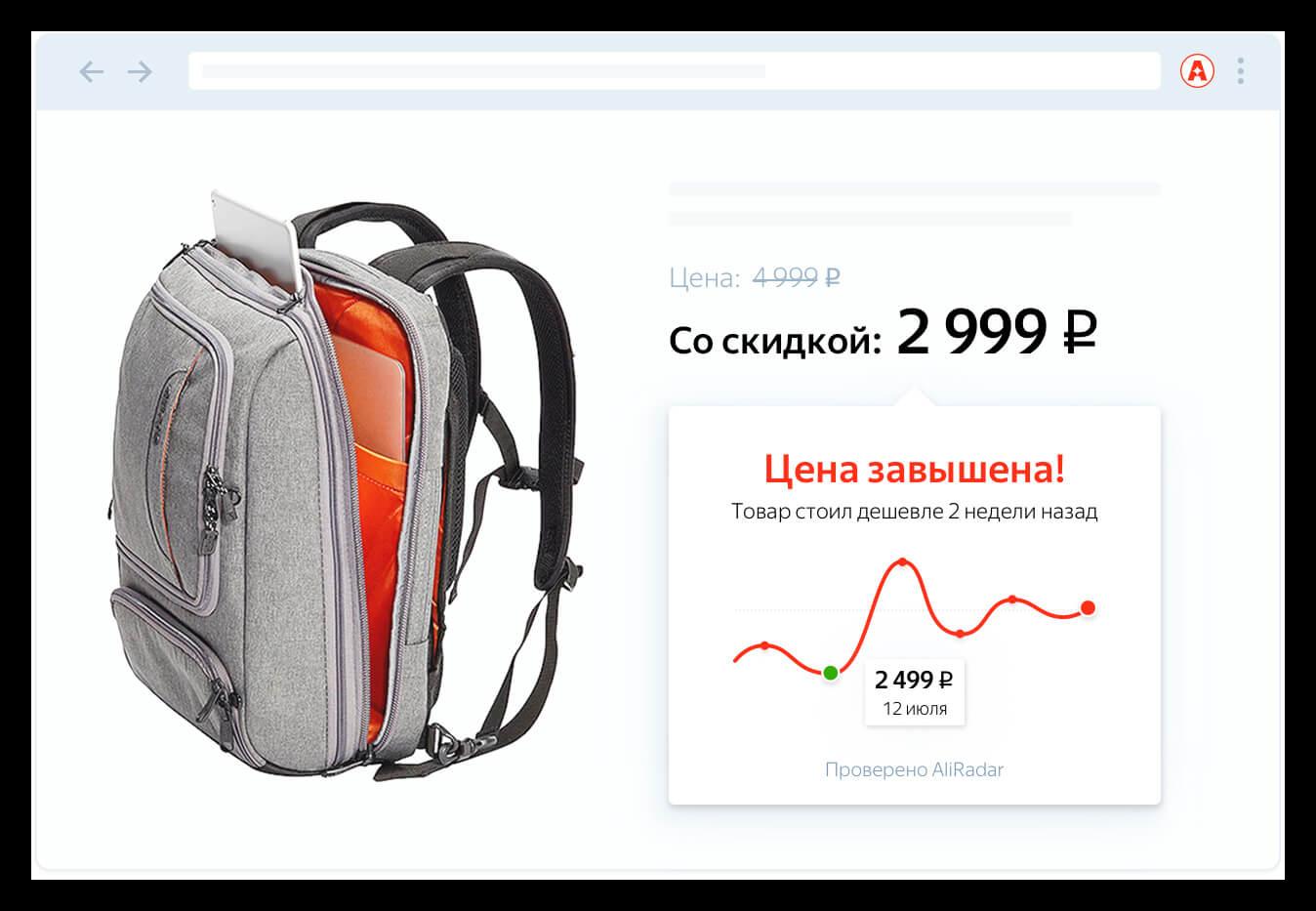 Картинка Проверка цен в AliRadar
