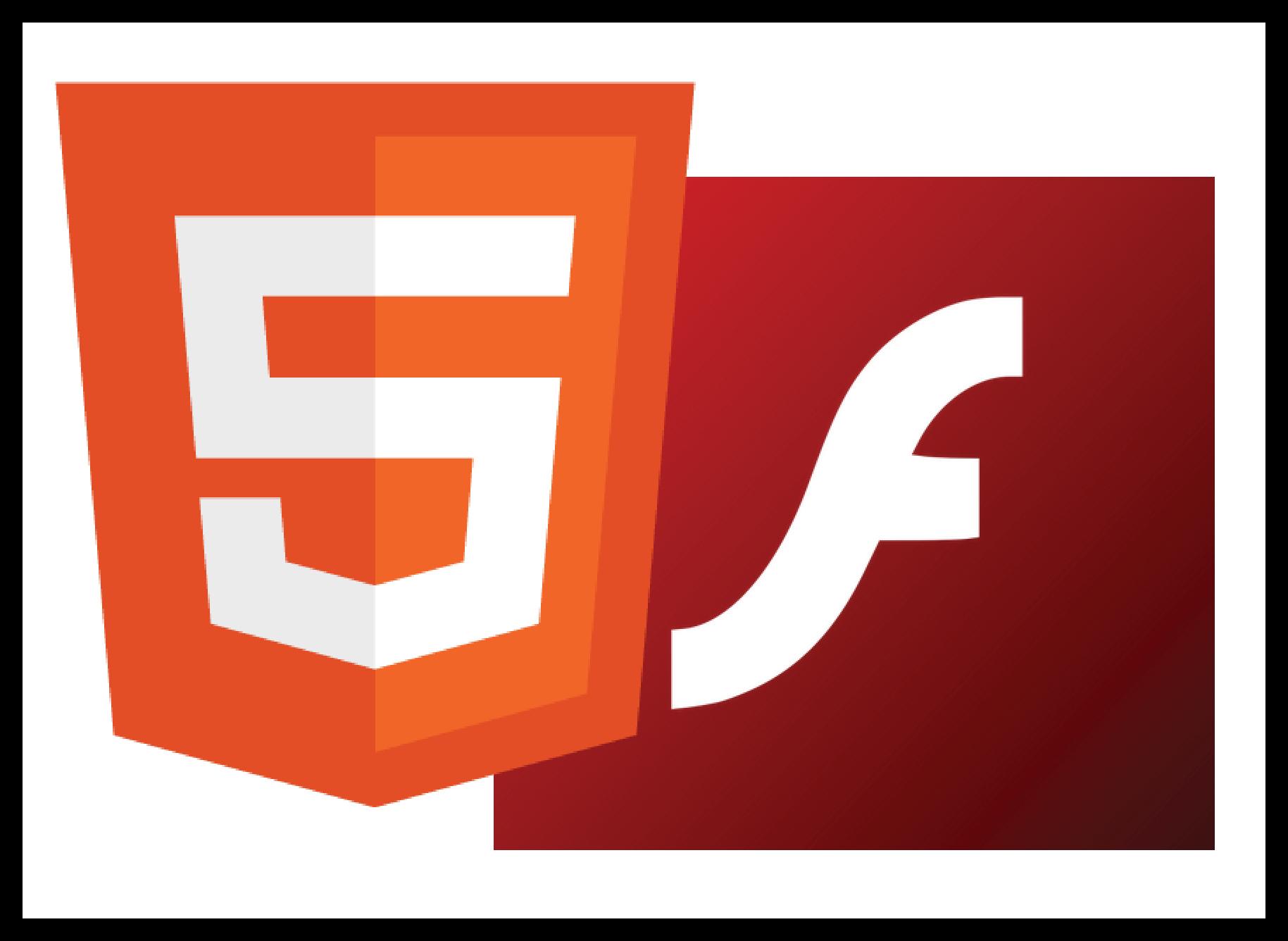 Картинка HTML5 и Adobe Flash Player