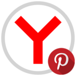 Кнопка Pinterest для Яндекс.Браузера