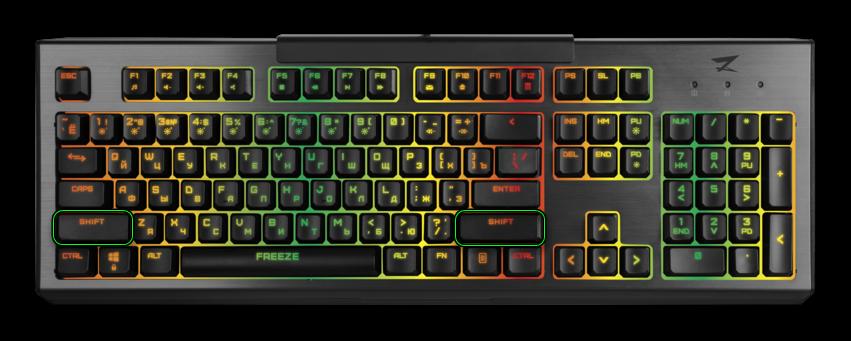 Картинка Кнопки Shift на клавиатуре